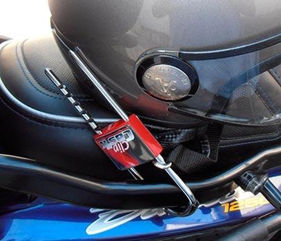 Antirrobo casco moto