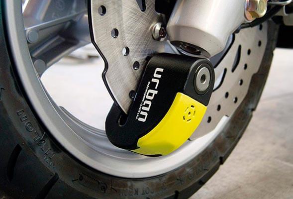 Pinza antirrobo moto con alarma
